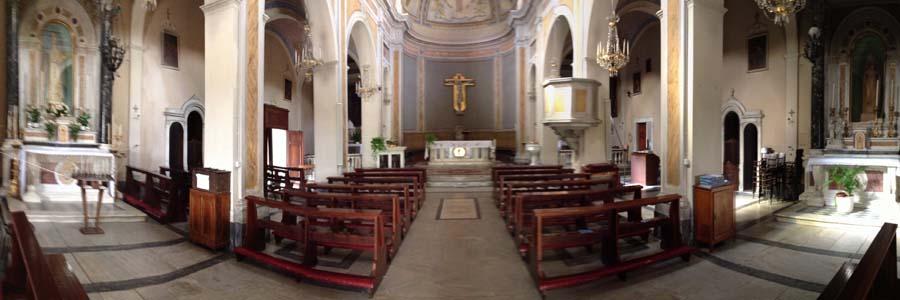 Interno della Chiesa di Monte S.Quirico
